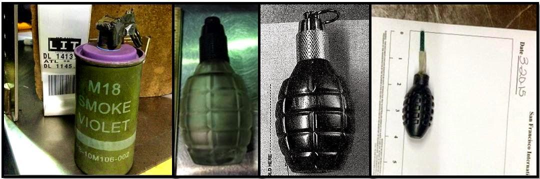 Live Smoke Grenade (LAS), Cologne Grenades (TPA & DEN), Firework Grenade (SFO)