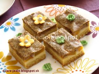 Broskyňový koláč s ricottou - recepty