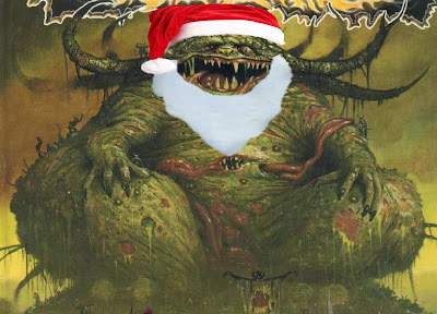 Greater Daemon of Nurgle as Santa Claus