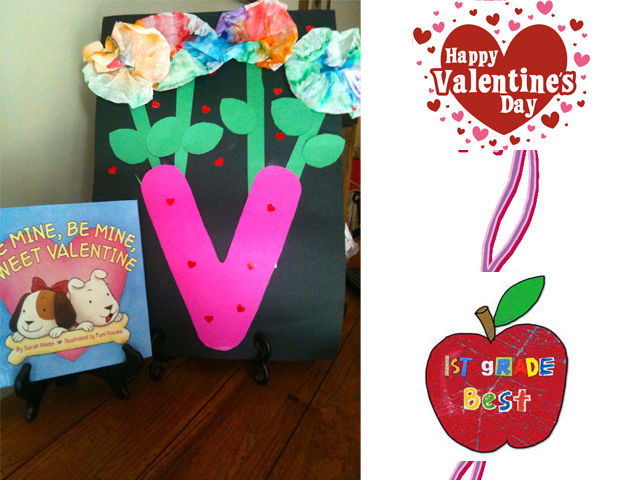 First Grade Best: V is for Vase and Valentine's Day