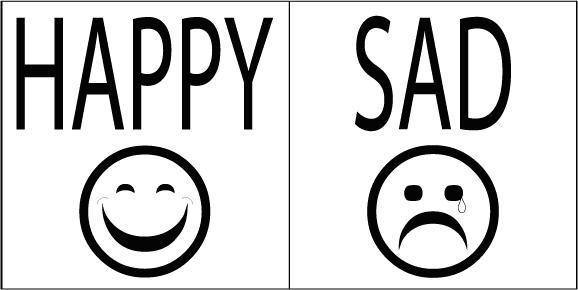 happy and sad faceshappy