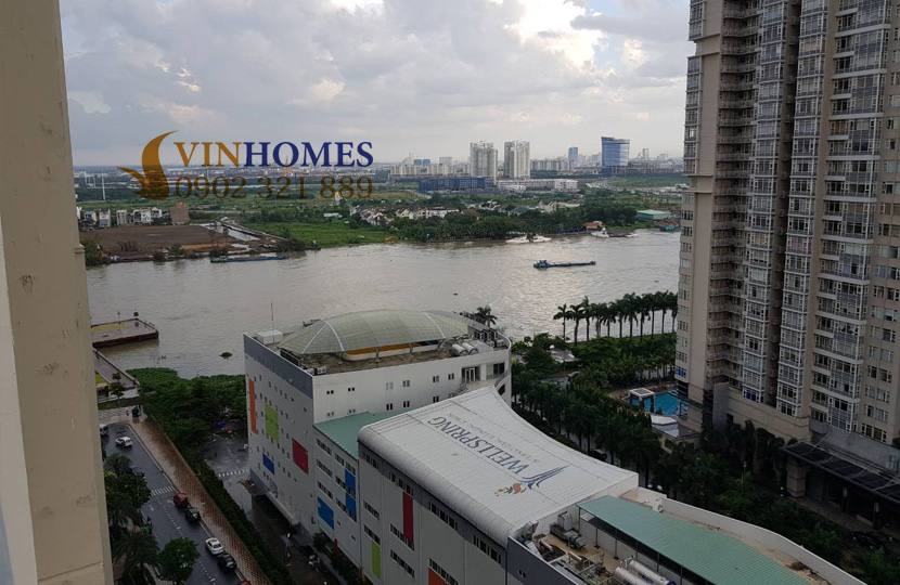 Căn hộ cho thuê 1PN tại Vinhomes Bình Thạnh view sông SG