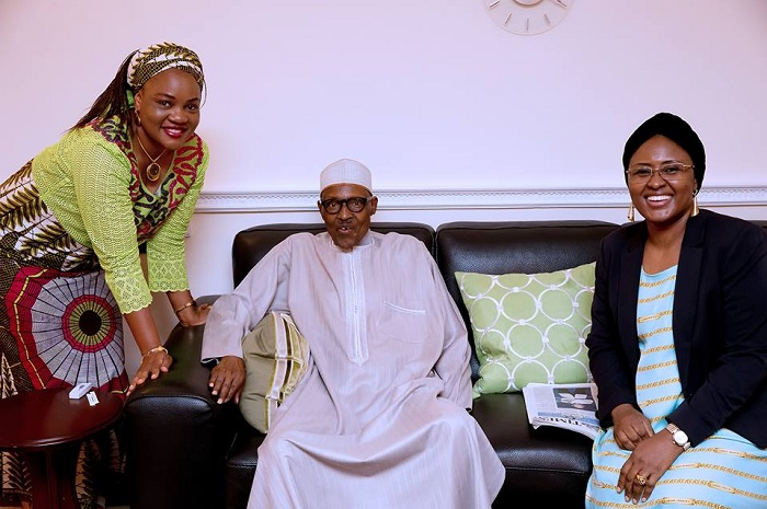 President Buhari Also Hosts Wife, Aisha, Governor Ortom's Wife In UK