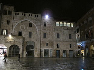 The Palazzo Orfini in Foligno, where a printing shop  opened in 1470, printing Dante's Divine Comedy