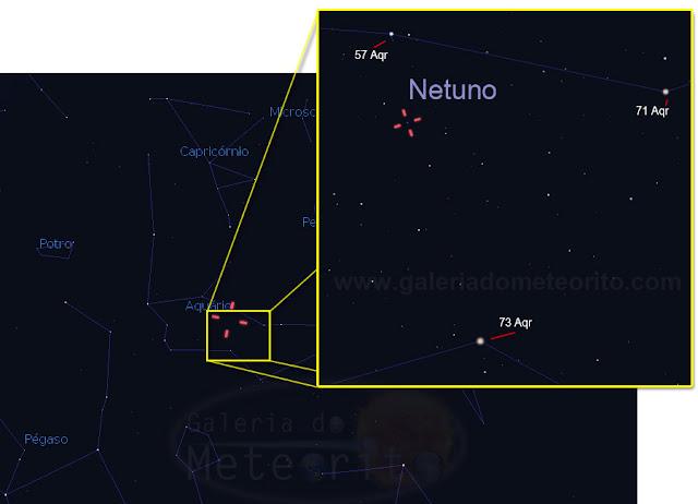 Netuno no céu de 2015