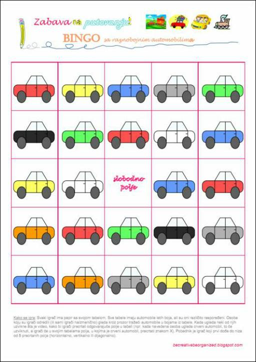 Igrice za decu - Bingo - automobili