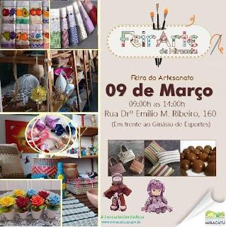 Prefeitura de Miracatu realiza mais uma feira de artesanato no próximo sábado