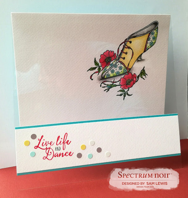 Let's Dance! A card by Sam Lewis AKA The Crippled Crafter .