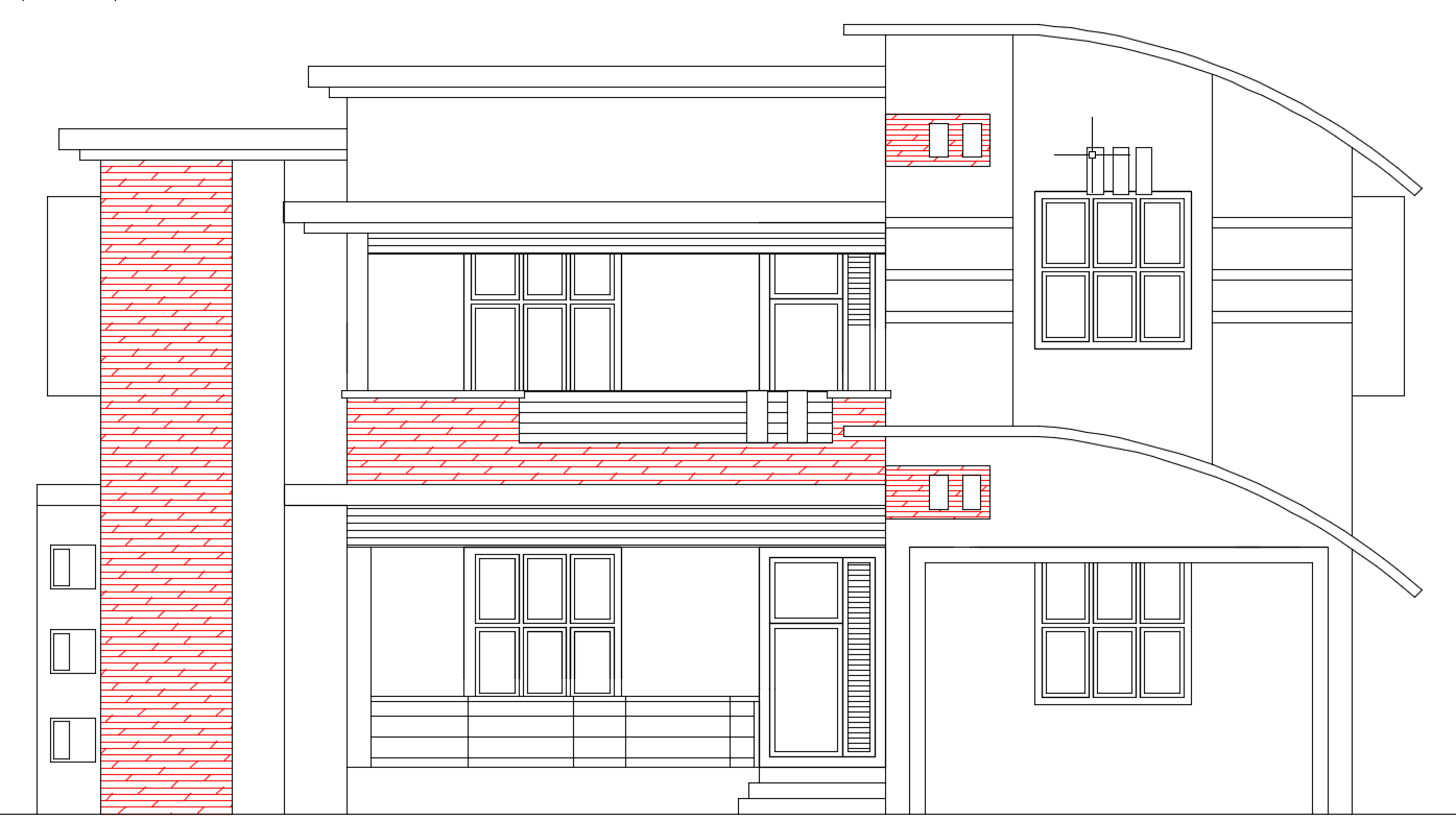 Front Elevation In 2d : Front elevation d