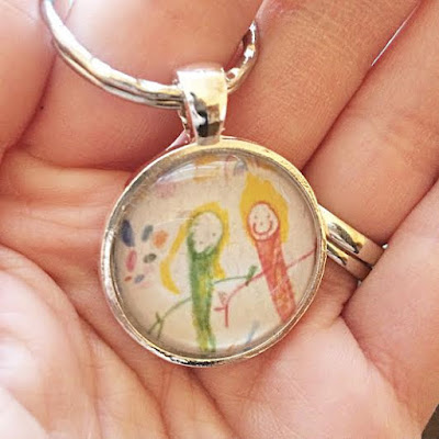 Your Child's Artwork Keychain  Etsy Shop: Lasting Impressions CT  $20.00