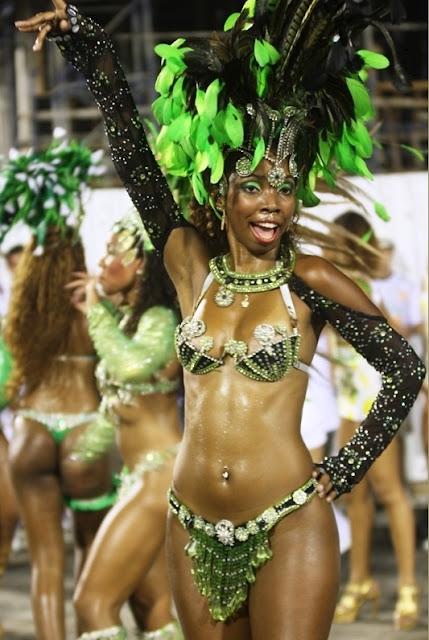 Sexy negro desnudos Bailarines