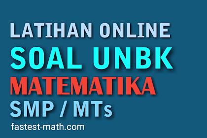 Latihan Soal UNBK Matematika SMP/MTs Tahun 2020 Paket 2