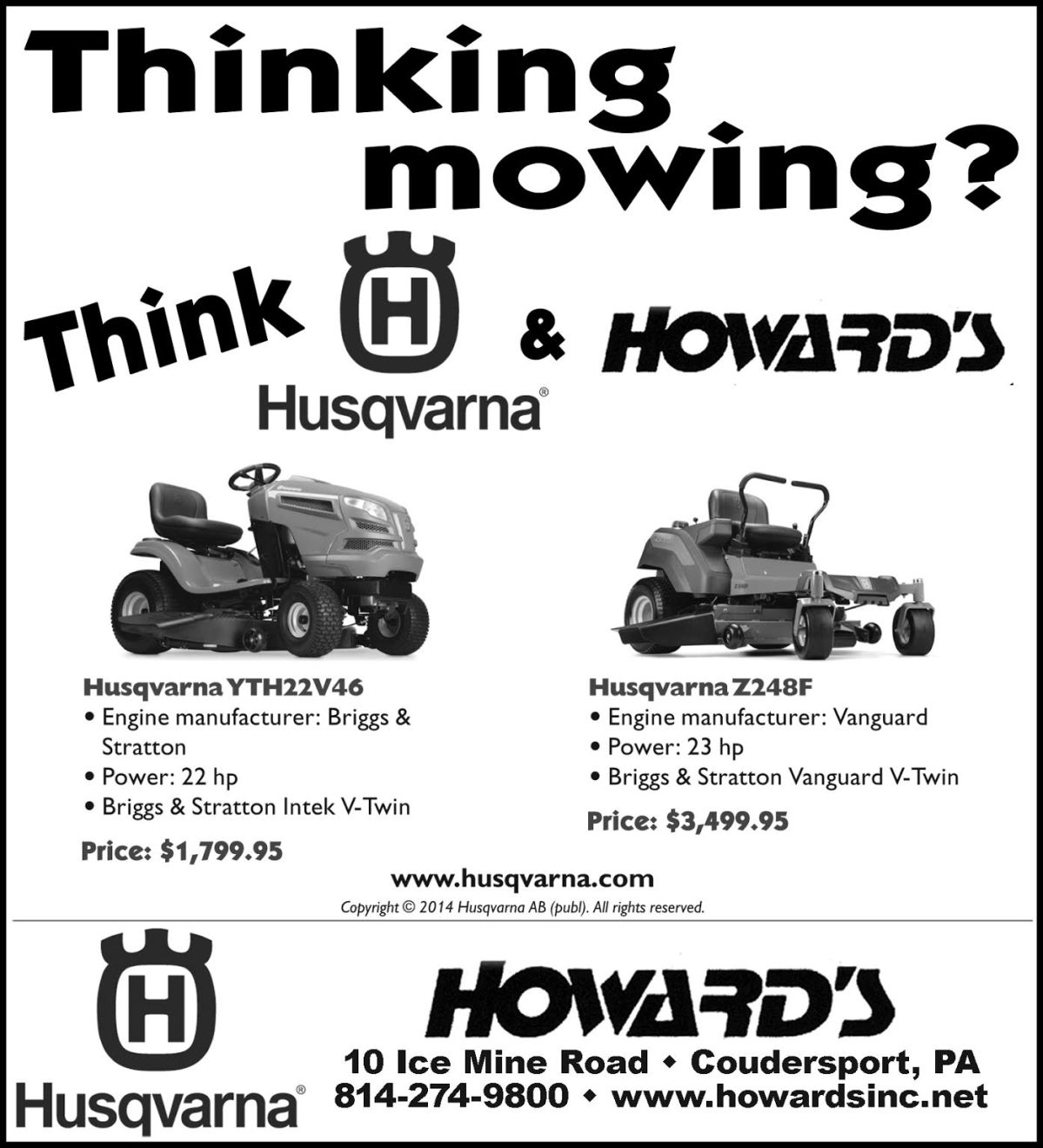 Howard's, Inc. Husqvarna