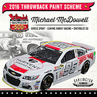 2016 Darlington #NASCAR Throwback Paint Schemes