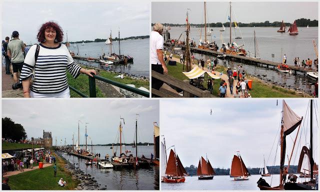 Veere mit Hooaars Segelschiffe