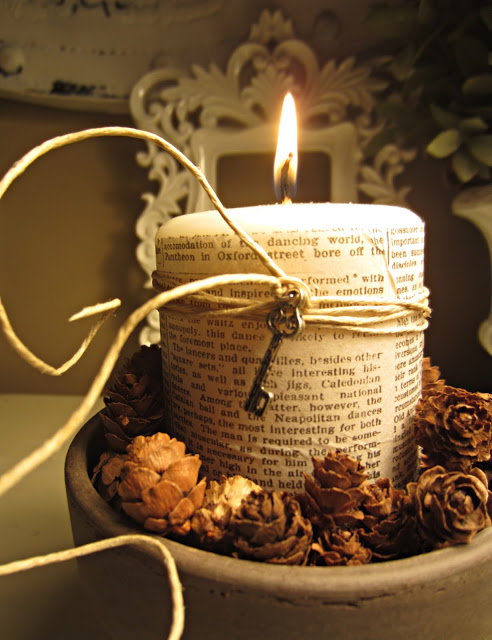 Fall book page Candle