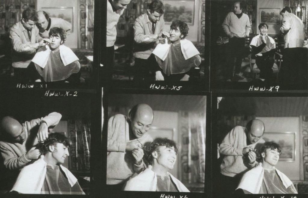 John Lennon Getting His Hair Cut 1966