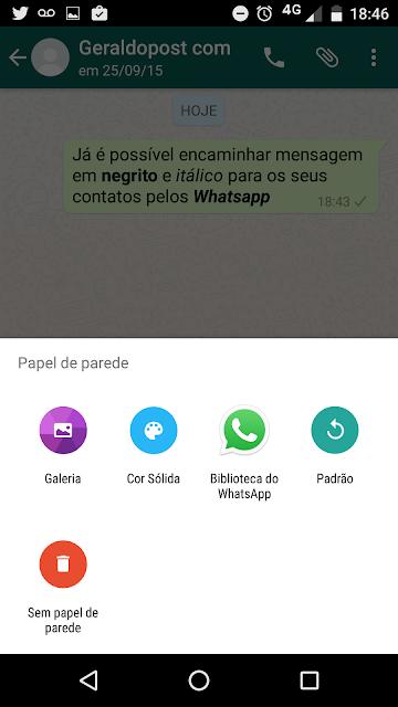 Nova versão do WhatsApp permite texto em negrito e itálico, papel de parede em cores e pop-up