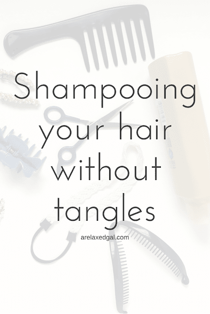 Tangled wet hair is the worst and causes damage. Find out how you can shampoo your hair and not have it tangle. | arelaxedgal.com