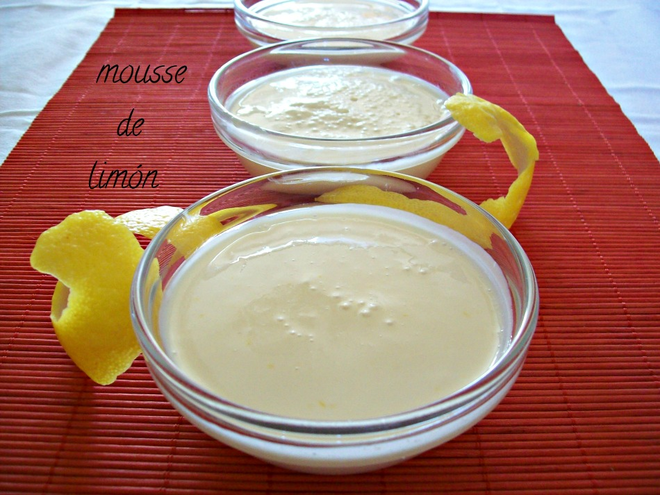 Mousse de limón exprés