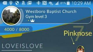 Pokemon Go di Kebugaran kamar westboro baptist church
