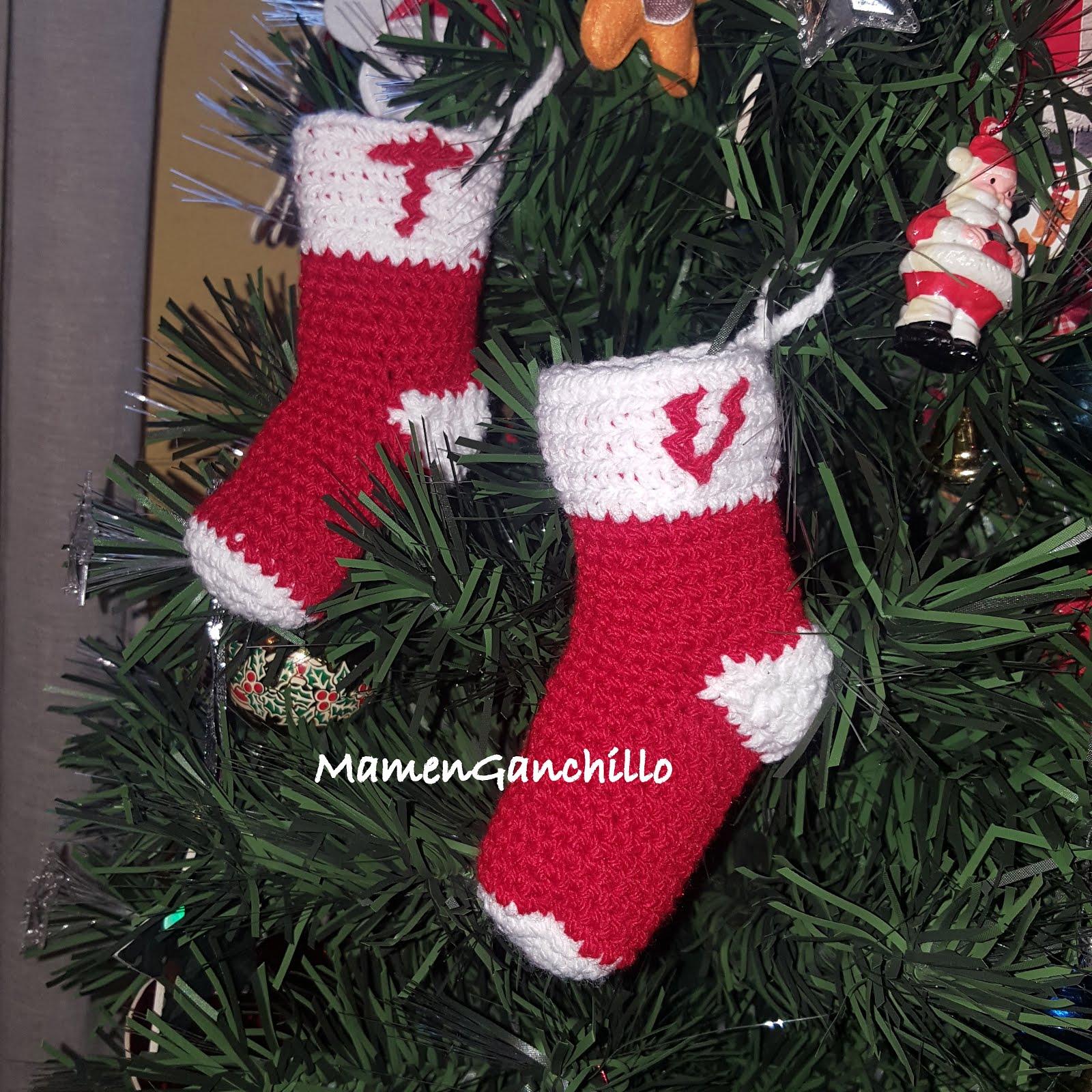 Mamen ganchillo 038 calcetines de navidad - Calcetines de navidad personalizados ...