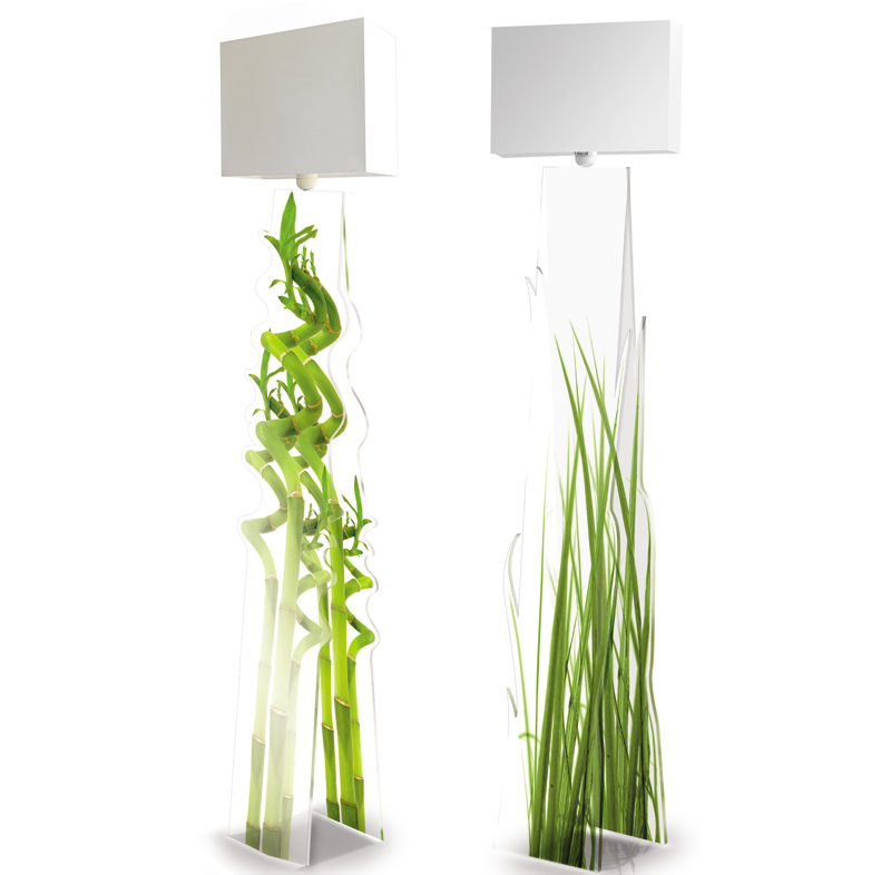 floor lamps bamboo and grass acrylic