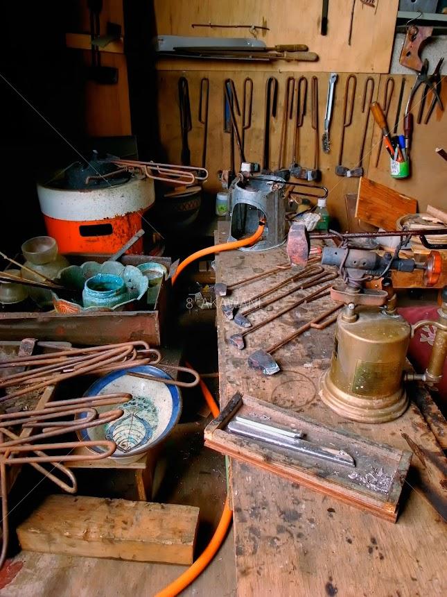 ブリキ屋のハンダ付け作業台