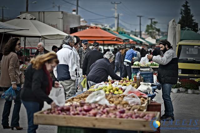 Fresh Mediterannean food Street market, Kiato