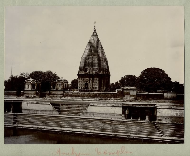 Temple of Ramnagar near Varanasi (Benares) - 1890's