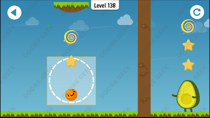 Where's My Avocado? Level 138 Solution, Cheats, Walkthrough, 3 Stars for Android, iPhone, iPad and iPod