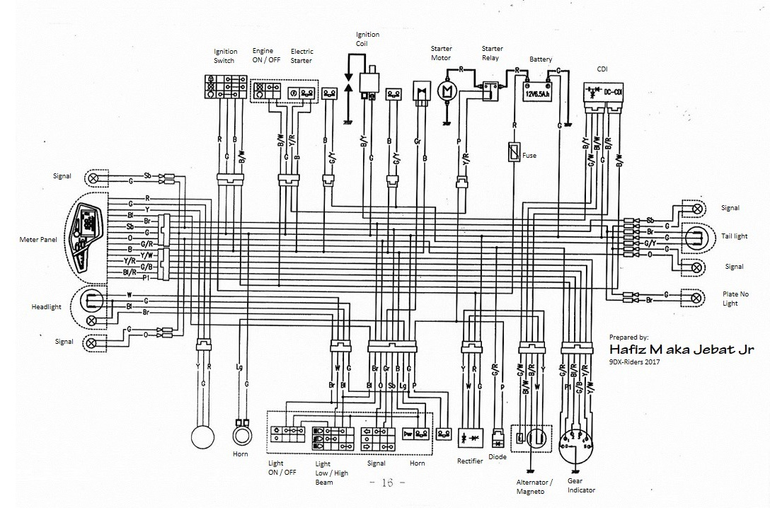 Wiring diagrams yamaha radian yx diagram