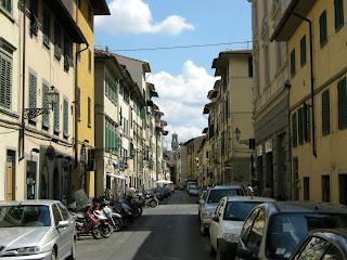 Via Palazzuolo in Florence, where Veracini was born