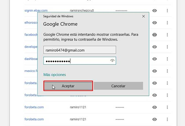 seguridad de google chrome