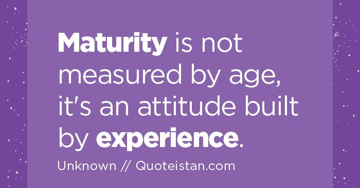 Maturity essay