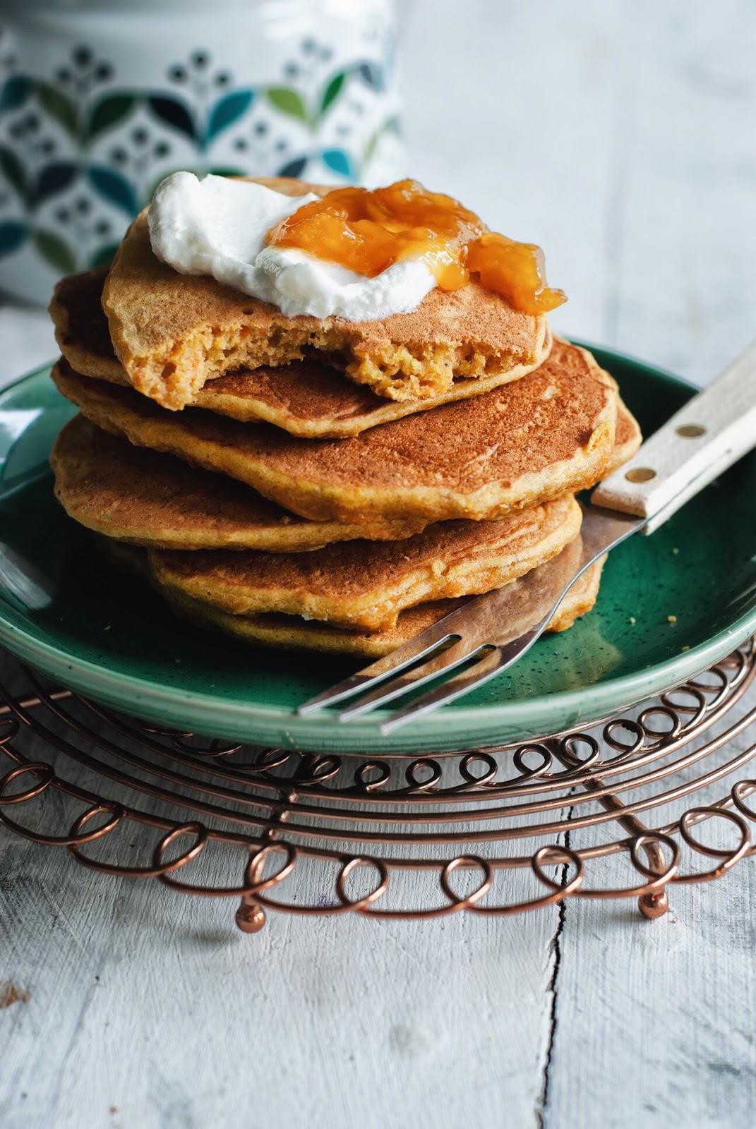 Bezglutenowe pancakes marchewkowe