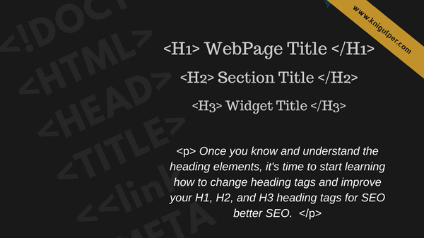 HTML Headings Tags In Blogger