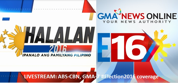 LIVESTREAM: ABS-CBN, GMA-7 Election 2016 coverage