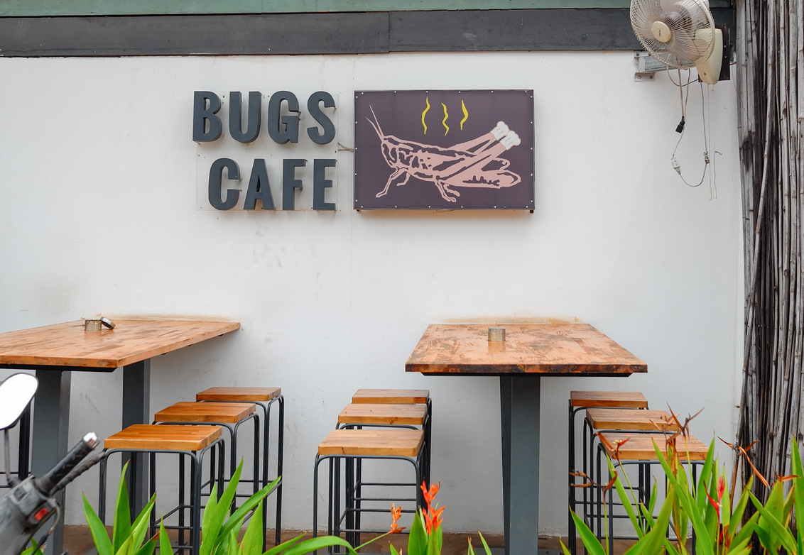 bugs cafe @ siem reap, cambodia