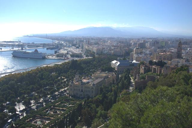 widok na miasto Malaga, punkt widokowy