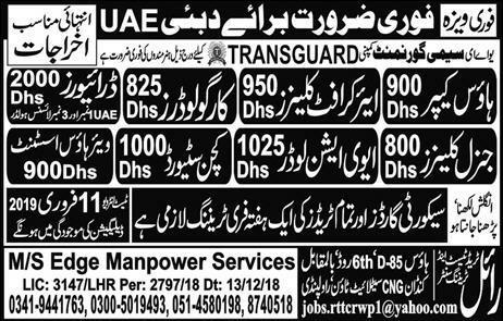 Ms Edge Manpower Services Jobs