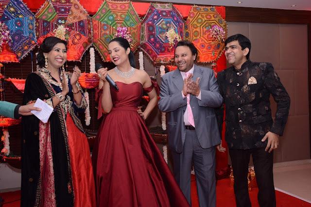 Seema Agarwal + Celina Jaitley + Anil Sharma + Manoj Agarwal