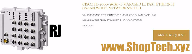CISCO IE-2000-16T67-B MANAGED L2 FAST ETHERNET (10/100) WHITE NETWORK SWITCH