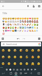 ايموشنات وأيقونات لوحة مفاتيح جوجل