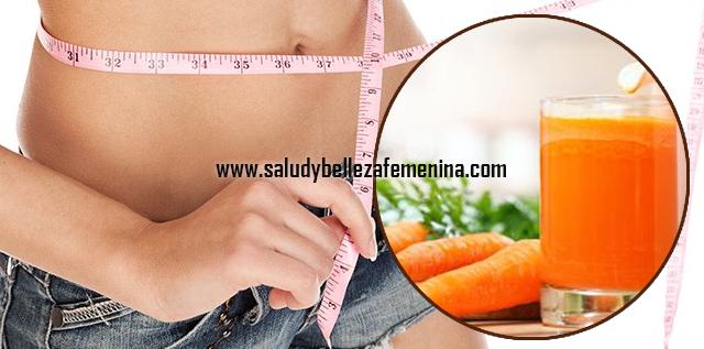 Zumo de zanahoria para adelgazar, baja de peso bebiendo este zumo de zanahoria y obtendrás todos sus beneficios depurativos, desintoxicantes, diuréticos, saciantes y desinflamatorios.