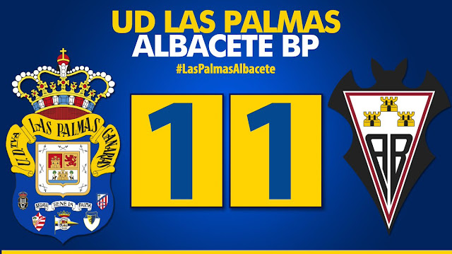 Marcador final UD Las Palmas 1-1 Albacete Balompié