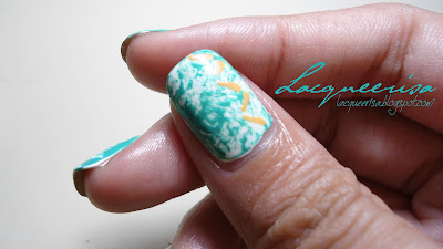 NOTD - Jumping Dashes on Saran Wrap