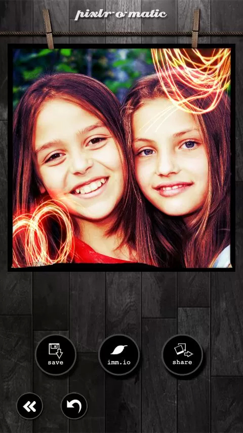 pixlr-o-matic free photo effect software for android device