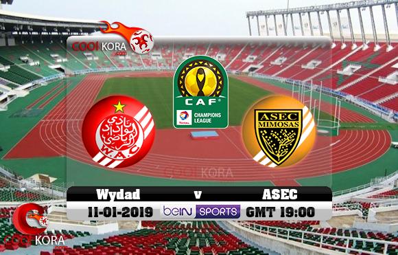 مشاهدة مباراة الوداد وأسيك ميموزا اليوم 11-1-2019 دوري أبطال أفريقيا