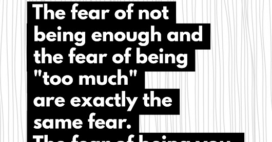 The Fear of Being You